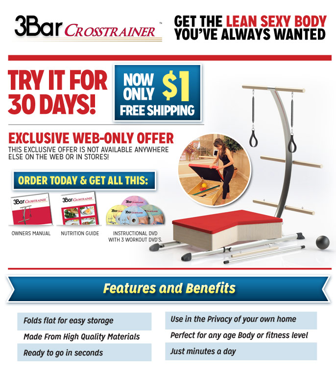 Order your 3BAR CROSSTRAINER™ now!